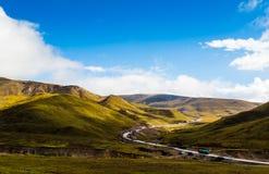 Tianshan-Gebirgslandschaft in Xinjiang, China stockbild