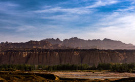 Tianshan grand canyon national geological park. There are some beautiful images which taken on the Tianshan grand canyon national geological park in Kuqa Country Royalty Free Stock Photography