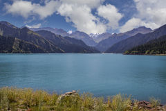 Tianshan mountain heaven pool Royalty Free Stock Photos