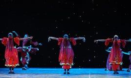 The Tianshan Mountains visitors-Xinjiang national Dance-The campus show Royalty Free Stock Photo