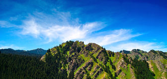 Tianshani Mountain. Under the blue sky Royalty Free Stock Image
