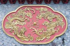 TIANSHUI, CHINA - 7 DE OCTUBRE DE 2014: Alivio en el monasterio de Nanguo un famo foto de archivo libre de regalías
