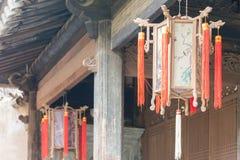 TIANSHUI, CHINA - 8 DE OCTUBRE DE 2014: Linterna en Beizhaizi (el septentrional foto de archivo