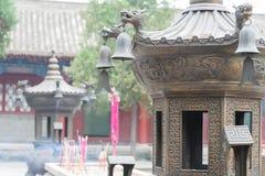 TIANSHUI, CHINA - 8 DE OCTUBRE DE 2014: Templo de Fuxi un templo famoso en Ti imagen de archivo