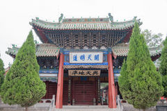 TIANSHUI, CHINA - 8 DE OCTUBRE DE 2014: Templo de Fuxi un templo famoso en Ti foto de archivo libre de regalías