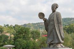 TIANSHUI KINA - OKTOBER 6 2014: Statyer av Zhuge Liang i Tianshui Arkivfoto