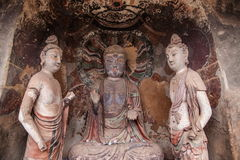 Tianshui Maiji Mountain Buddha Cave Chilbulbong Stock Photography