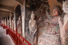 Tianshui Maiji Mountain Buddha Cave Chilbulbong Royalty Free Stock Photos