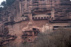 Tianshui Maijishan monasteries and caves Royalty Free Stock Photography