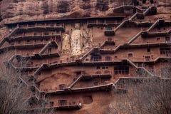 Tianshui Maijishan monasteries and caves royalty free stock images