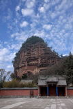 Tianshui Maijishan monasteries and caves Royalty Free Stock Photo