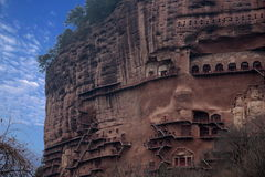 Tianshui Maijishan monasteries and caves Stock Photography