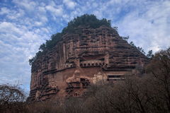 Tianshui Maijishan monasteries and caves Royalty Free Stock Images