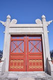 Tiantan gate. The gate of a palace in Tiantan park Stock Images