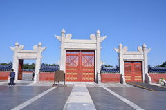 Tiantan gate. The gate of a palace in Tiantan park Stock Photography