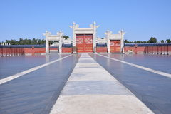 Tiantan gate. The gate of a palace in Tiantan park Stock Image
