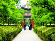Tiantan park path and Pavilion Royalty Free Stock Photography