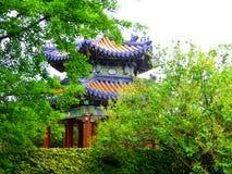 Tiantan park Pavilion. An ancient style pavilion inside Tiantan Park in Beijing China Royalty Free Stock Photos