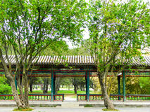 Tiantan park Summer resort. A gallery under the shade inside Tiantan Park in Beijing China Royalty Free Stock Images