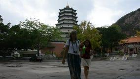 Tiantan-Tempel in Tian Tan Garden an Shantou-Stadt in Chaozhou, China stock video
