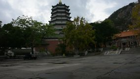 Tiantan-Tempel in Tian Tan Garden an Shantou-Stadt in Chaozhou, China stock video