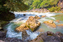 Tianxingqiao area scenery of Huangguoshu waterfalls. Huangguoshu waterfalls are China's largest waterfalls. It is located in the Anshun, Guizhou, China Stock Image