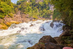 Tianxingqiao area scenery of Huangguoshu waterfalls. Huangguoshu waterfalls are China's largest waterfalls. It is located in the Anshun, Guizhou, China Royalty Free Stock Photos