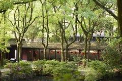 Tianyige trädgård i Ningbo, Kina Arkivfoto