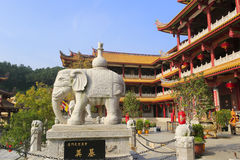 tianzhuyan寺庙门  免版税库存照片