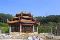 Tianzhuyan temple under construction Stock Images