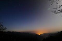 tianzi восхода солнца горы Стоковая Фотография