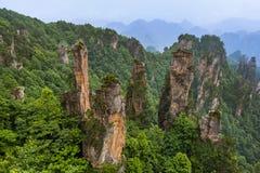 Tianzi Avatar mountains nature park - Wulingyuan China. Travel background royalty free stock photo