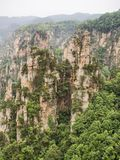 Tianzi Mountain column karst at Wulingyuan Scenic Area, Zhangjiajie National Forest Park, Hunan, China.  stock photography