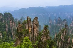 Tianziavatar het park van de bergenaard - Wulingyuan China royalty-vrije stock foto's