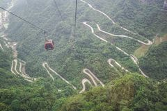 Tianmen Mountain cableway Stock Photo