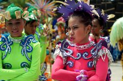 Closeup images of various faces in diverse costumes of street dancer. Tiaong, Quezon, Philippines - June 22, 2016: Closeup images of various faces in diverse Stock Photo