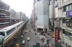 Tiapei-Straßenansicht Lizenzfreie Stockbilder