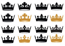 Tiara. Created in Illustrator. This image for design logo or ohter illustration. Have a corel Royalty Free Stock Image