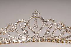Tiara. Isolated diamond jewel tiara isolated over gray Royalty Free Stock Images
