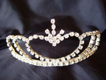 Tiara. On black background Stock Images