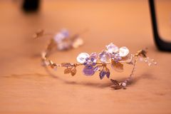 Tiara for a bride on her wedding day royalty free stock photo