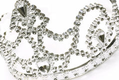 Tiara or crown. Details on white background Stock Photography