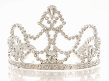 Tiara or crown. Crown or tiara isolated on a white background with reflection Stock Images