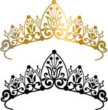 Tiara Crown Vector Illustration. With Gradient and Silhouette royalty free illustration