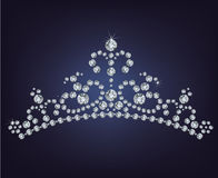 Tiara crown women's wedding Stock Image
