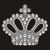 Tiara crown womens wedding with rhinestones. Crown Miss Contest. Royalty Free Stock Images
