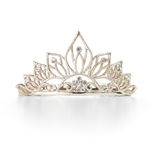Tiara or diadem with reflection Stock Photo