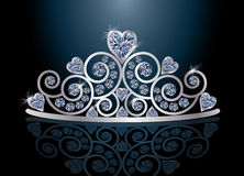 Tiara  diadem with reflection. Tiara or diadem with reflection,  illustration Royalty Free Stock Image