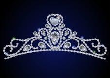 Tiara do diamante Fotos de Stock Royalty Free