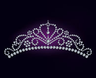 A tiara do diamante Fotografia de Stock Royalty Free